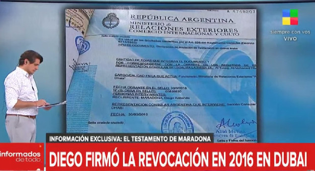 Bomba dall'Argentina: Maradona ha rimosso tre familiari dal testamento! Spunta il documento firmato nel 2016 [VIDEO]