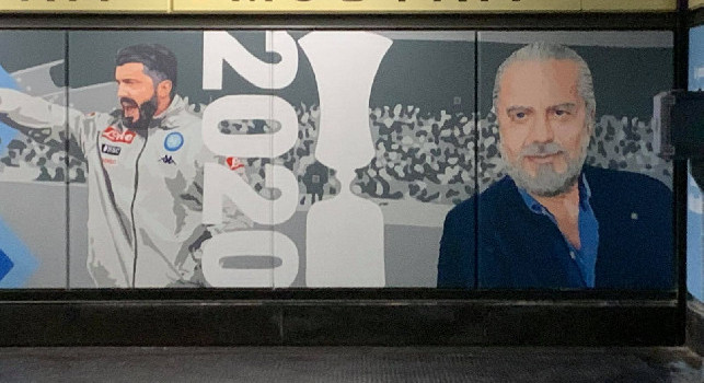 Mostra Maradona, alla Cumana di Fuorigrotta c'è anche De Laurentiis [FOTO CN24]