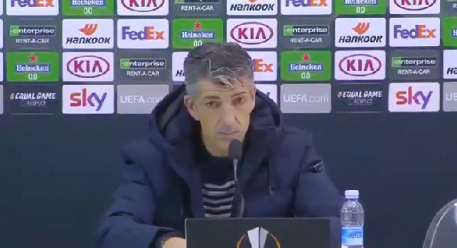 Real Sociedad, Alguacil in conferenza: Napoli squadra da Champions! Contento a metà, volevamo vincere per omaggiare la memoria di Maradona [VIDEO]