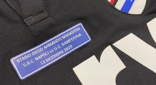 La Sampdoria onora Maradona: patch sulla maglia in onore della prima di Serie A allo stadio 'Diego Armando #Maradona' [FOTO]