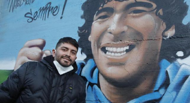Murales Maradona a Mugnano: presenti Diego jr e gli ex Filardi e Carannante [FOTOGALLERY & VIDEO CN24]