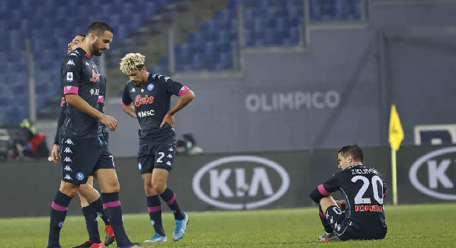 Dalla desolazione finale all'occhio 'nero' di Gattuso: le emozioni di Lazio-Napoli 2-0 [FOTOGALLERY CN24]
