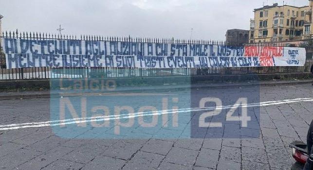 Striscione della Curva A a Napoli: Un calcio in cu*o al 2020! [FOTO CN24]