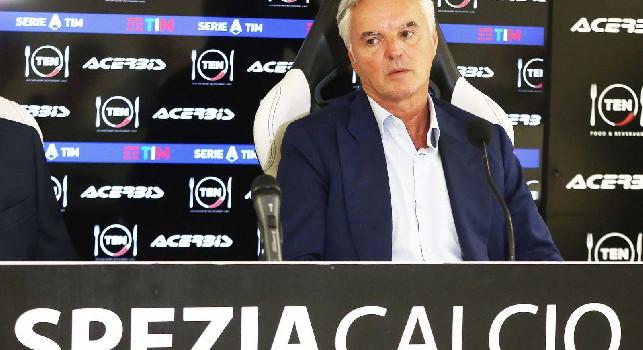 Spezia, il presidente: Pareggio col Napoli? Sarebbe importante, serve un'impresa! All'andata fummo fortunati, su Italiano...