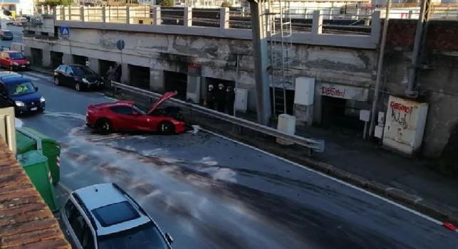 Genoa, Marchetti porta la Ferrari a lavare ma l'uomo dell'autolavaggio la distrugge