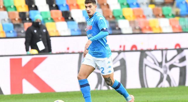 Napoli in vantaggio, grande gol di Di Lorenzo su assist di Lozano