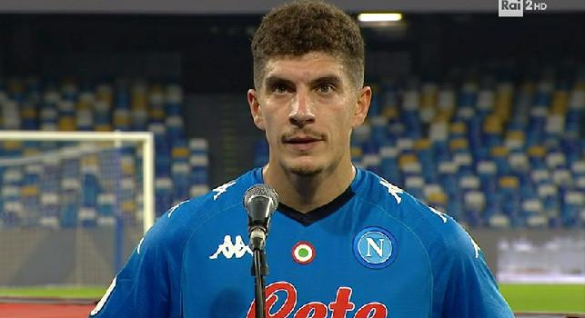 Di Lorenzo a fine primo tempo: Spiace per la mia ex squadra, felice per il risultato. Dobbiamo mantenere la concentrazione