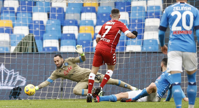 Napoli-Fiorentina, Prandelli toglie Ribery all'intervallo