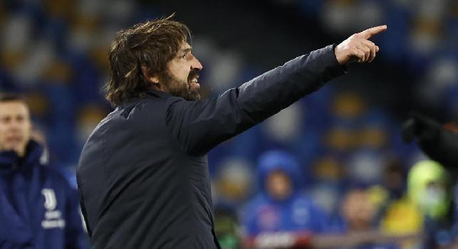 Juve-Napoli il 17 marzo, Pirlo: Faremo di necessità virtù nonostante il calendario fitto