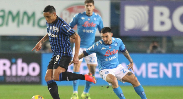Atalanta-Napoli 3-1, eurogoal di Muriel su un erroraccio di Bakayoko