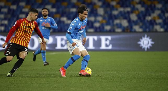 Sassuolo-Napoli, Elmas per Mertens nel ruolo di centravanti