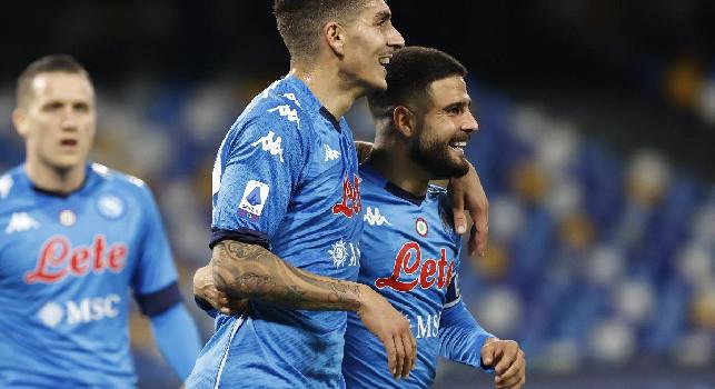 Napoli-Bologna 1-0, tacco di Zielinski e Insigne la piazza dove il portiere non può arrivare