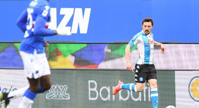 Confronto numero 107 tra Sampdoria e Napoli in Serie A, vittoria numero 16 per gli azzurri a Marassi