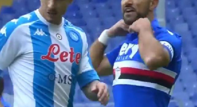 Sampdoria-Napoli, battibecco Gattuso-Quagliarella: Mister, stai facendo la telecronaca!. Pensa a giocare, che ca**o vuoi? [VIDEO]