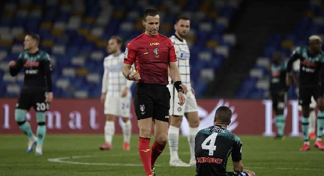 Napoli-Inter, la moviola di Gazzetta: il Var salva Doveri due volte