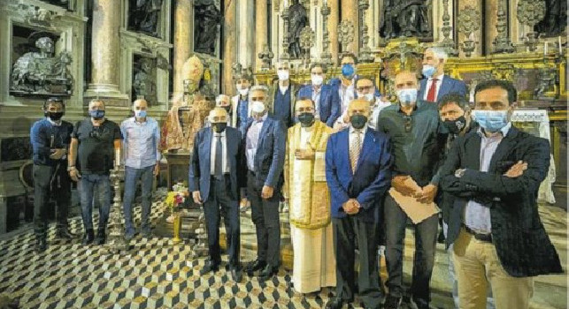 10 maggio, giornata speciale per Maradona Jr: messa al Duomo per celebrare Diego, c'era anche Ferlaino! [FOTO]