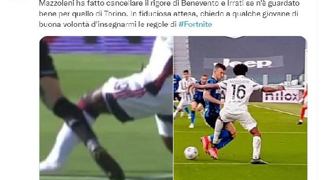 Azzi denuncia: Stesso rigore cancellato al Benevento ma dato alla Juve! Ora il designatore spieghi [FOTO]