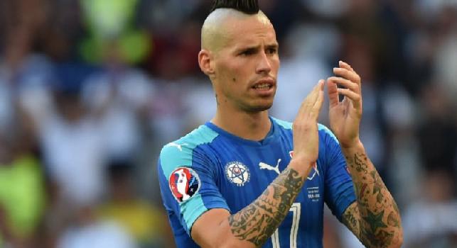 127 presenze con la Slovacchia, il Napoli si congratula con Hamsik: Complimenti Marek!