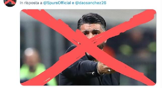 Tottenham, profilo Twitter preso d'assalto dai tifosi indignati per l'arrivo di Gattuso [FOTO]