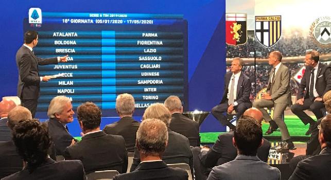 Novità per tutti sui calendari nel girone di ritorno, per Napoli e Salernitana garantita l'alternanza