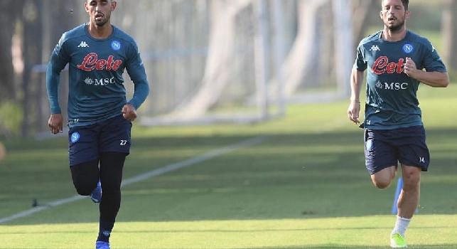 SSC Napoli, report allenamento: Mertens e Ghoulam in gruppo, personalizzato per Meret
