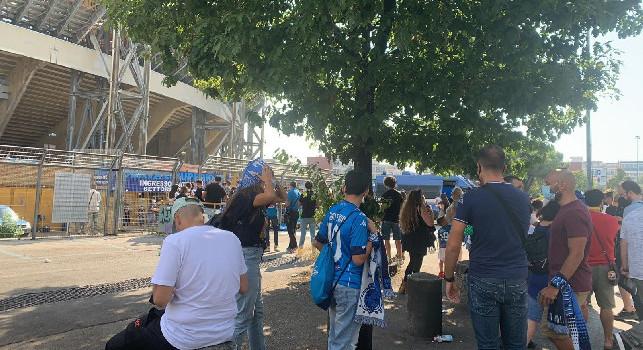 Napoli-Juventus, questa la situazione all'ingresso della Curva B [FOTO]