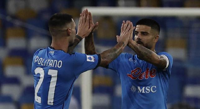 Il Napoli la sblocca, ma è dubbia la paternità del gol: pallonetto di Insigne e tocco poco prima della linea di Osimhen