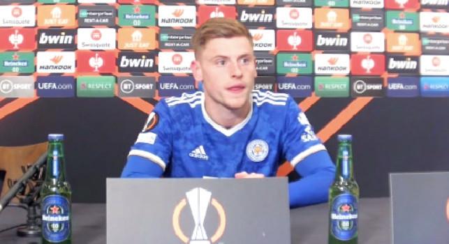 Leicester, Barnes in conferenza: Napoli squadra molto buona, ma rimane l'amaro della mancata vittoria! Gol annullato? Mi sembrava buono