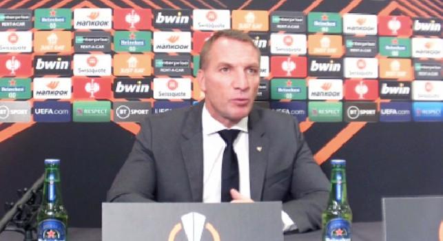 Leicester, Rodgers in conferenza: Il Napoli resta favorito per l'Europa League, ma l'arbitro non ha arbitrato bene. Barnes: Il gol annullato? Sembrava valido
