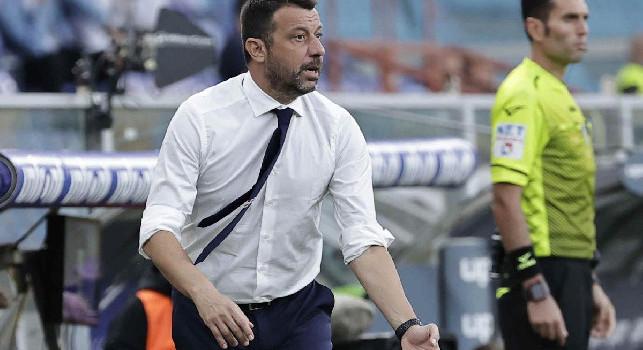 Sampdoria, D'Aversa: Sconfitta eccessiva, nel primo tempo abbiamo creato più del Napoli! Gli episodi hanno fatto la differenza