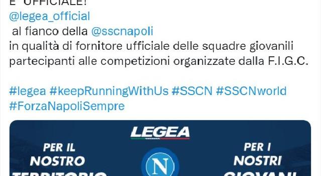 UFFICIALE - Legea fornitore delle squadre giovanili SSC Napoli [FOTO]