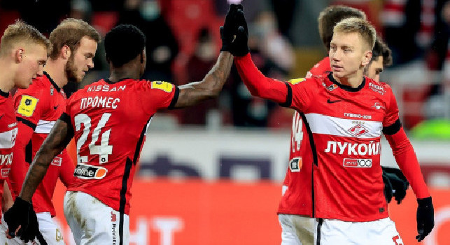 Spartak Mosca, infortunio per Umyarov: fuori per un mese