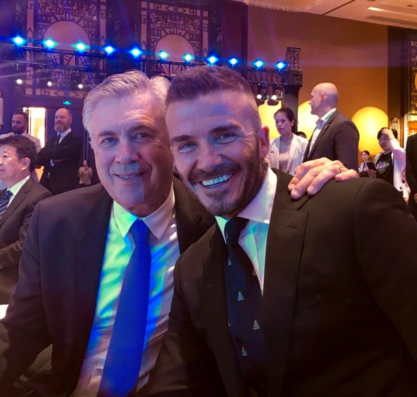 Ancelotti e Beckham