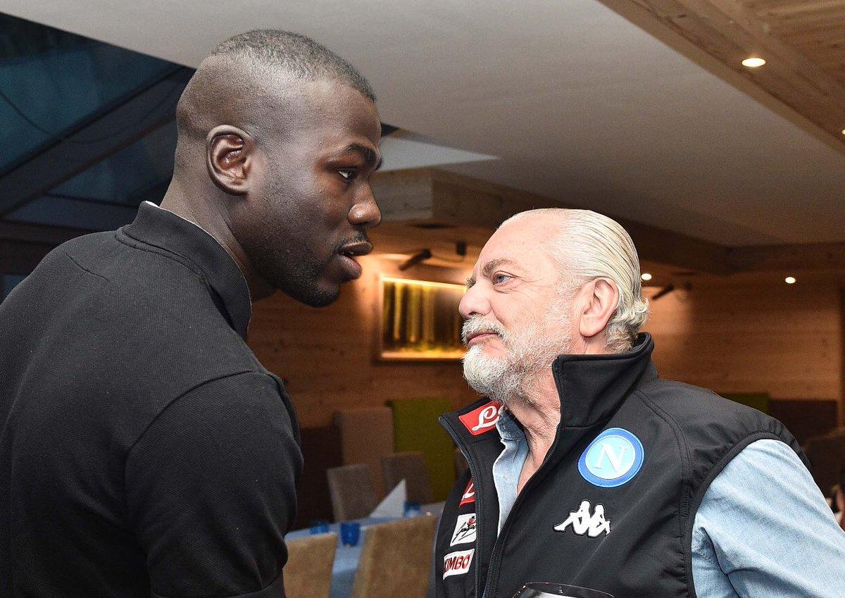 Kalidou Koulibaly e Aurelio De Laurentiis