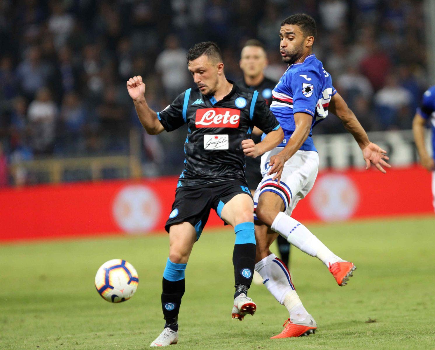 Mario Rui in Sampdoria-Napoli
