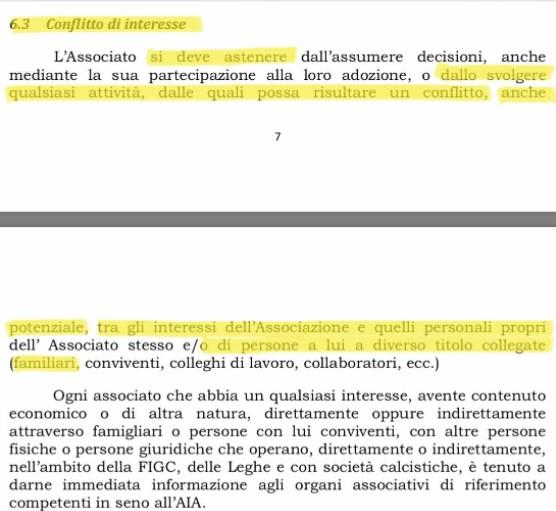 Regolamento AIA-FIGC