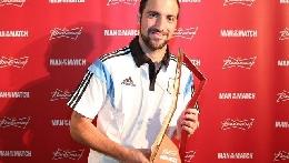 FOTOGALLERY - Higuain premiato come <i>man of the match</i> dell'Argentina
